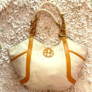 Tory Burch Canvas Bag, gently used.